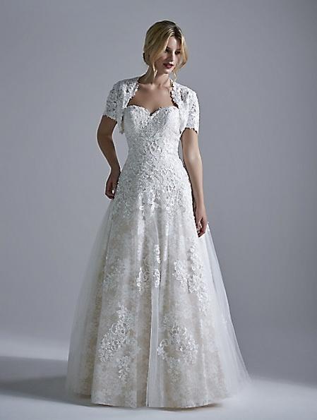 Довга мереживна весільна сукня 2016 - OPULENCE