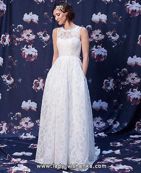 Довга мереживна весільна сукня 2016 - Ivy & Aster