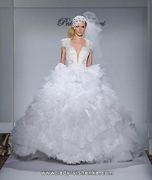 пишне Весільне мереживне плаття - Pnina Tornai