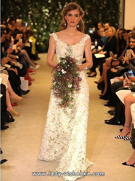 Мереживне весільне плаття Carolina Herrera 2016