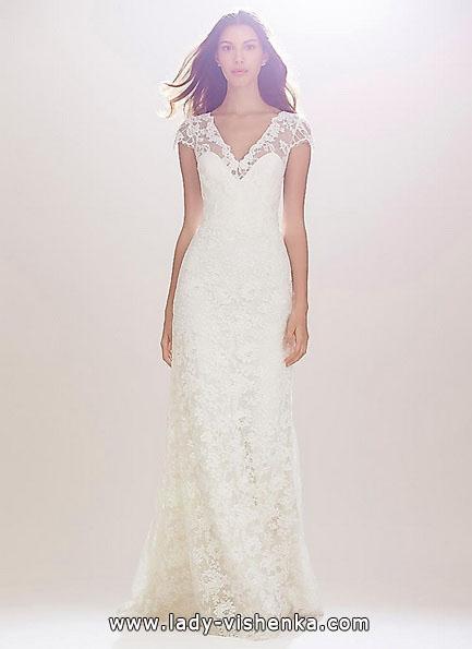 Пряме мереживне весільне плаття 2016 - Carolina Herrera