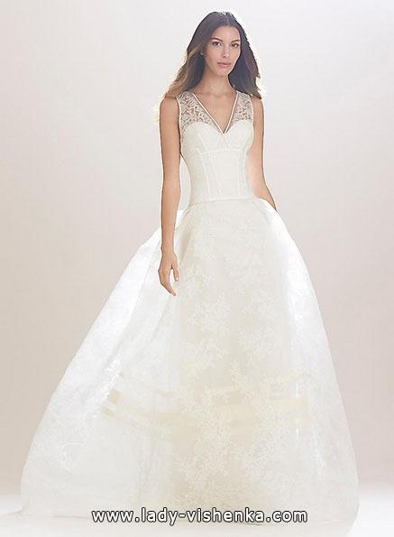 Довга мереживна весільна сукня 2016 - Carolina Herrera