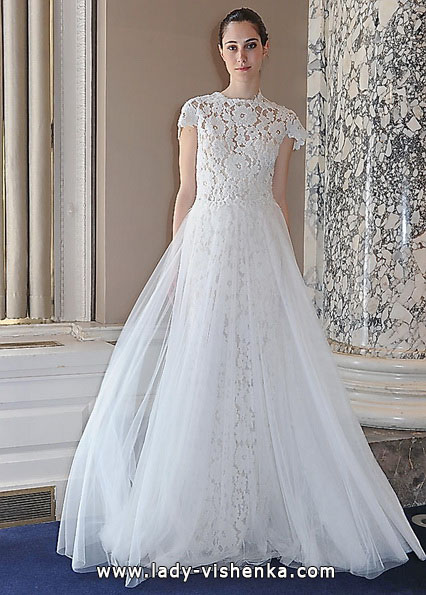 Довга мереживна весільна сукня 2016 - Christos Costarellos