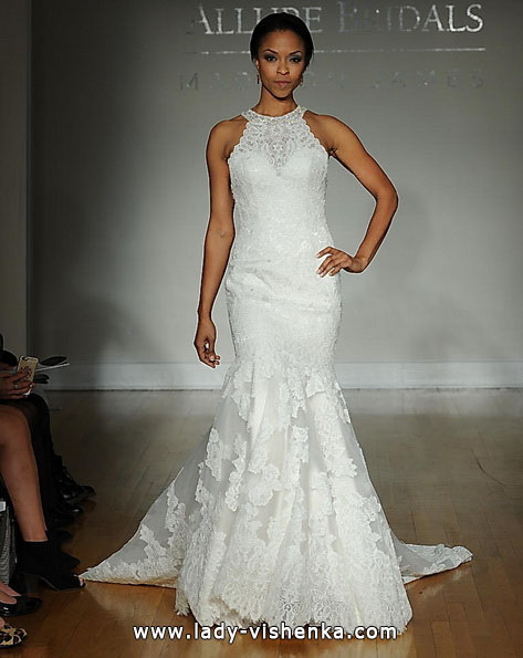 Мереживна весільна сукня - рибка - Allure