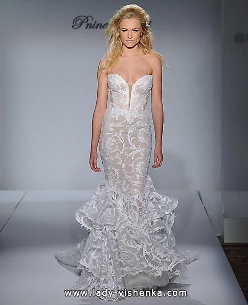 Мереживна весільна сукня - рибка - Pnina Tornai