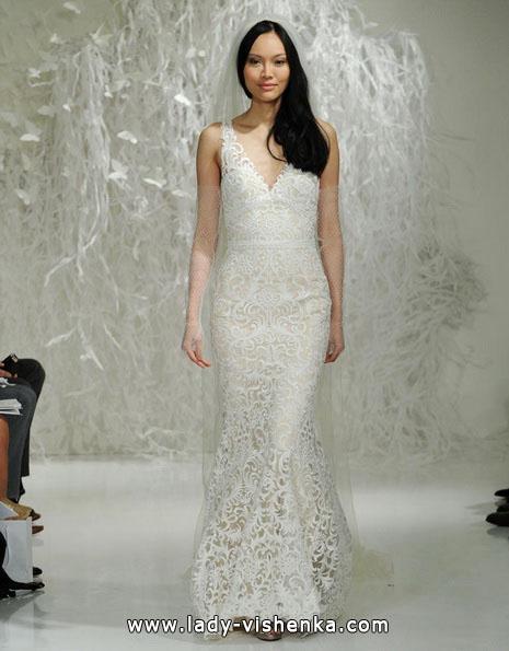 Мереживна весільна сукня - рибка - Watters