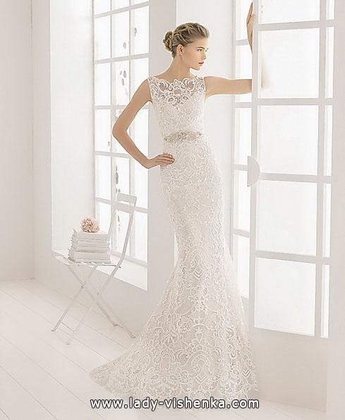 Весільну сукню рибка з великим мереживом - Aire Barcelona
