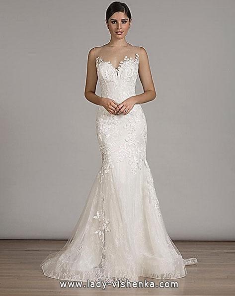 Мереживне весільне плаття русалонька зі шлейфом - Liancarlo
