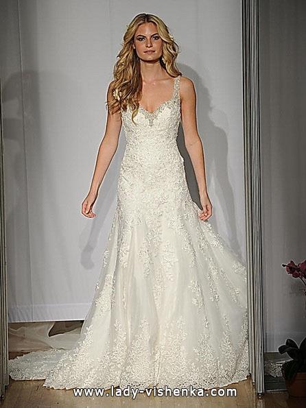 Мереживне весільне плаття русалонька зі шлейфом - Mori Lee