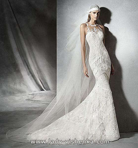 Мереживне весільне плаття русалочка - фото - Pronovias