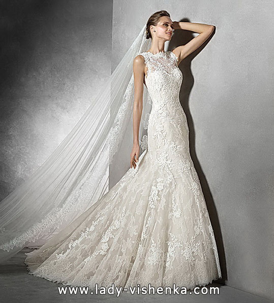 Мереживні весільні сукні - рибка - Pronovias