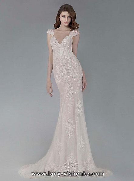 Мереживне весільне плаття рибка з шлейфом - Victoria KyriaKides