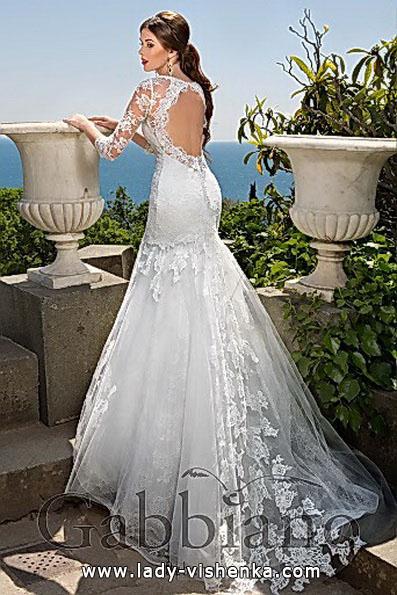 Мереживне весільне плаття русалонька зі шлейфом - Gabbiano