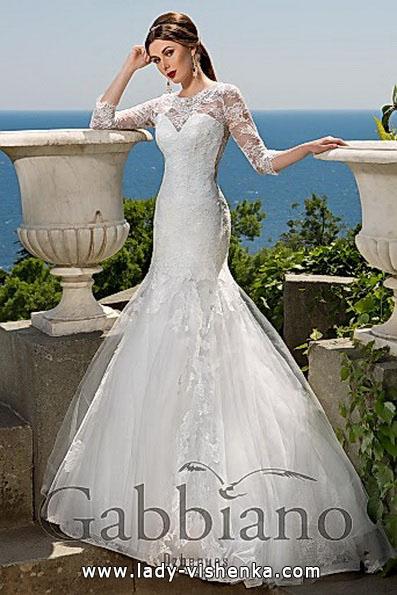 Мереживне весільне плаття рибка з шлейфом - Gabbiano