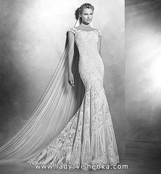 Мереживне весільне плаття риб'ячий хвіст