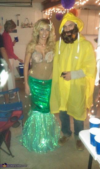 Русалочка і рибалка на Хеллоуїн