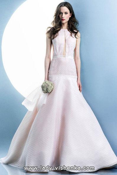 Рожеве весільне плаття 2016