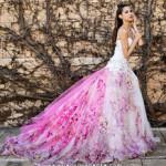 Розовое свадебное платье 2016