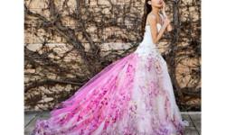 Рожеве весільне плаття