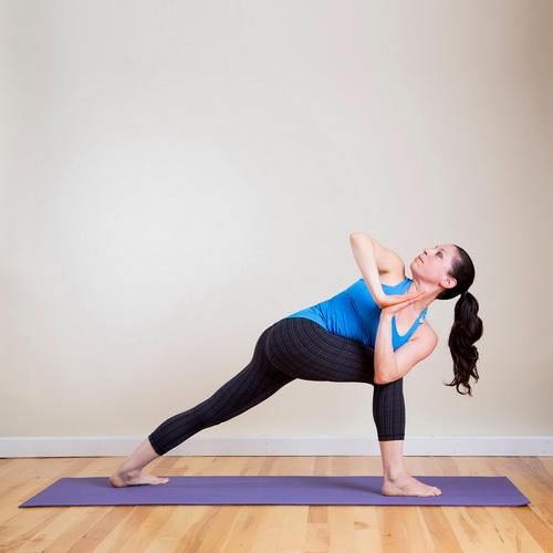 Поза йоги Бічний кут відхилення