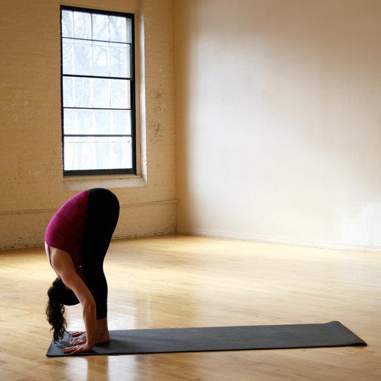 Пози йоги - нахил вперед стоячи