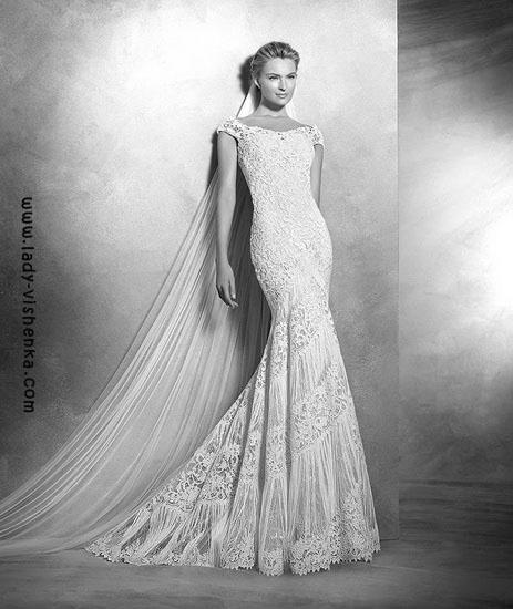 Весільні сукні з мереживом Pronovias