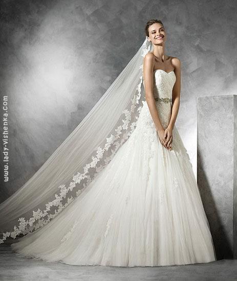 Весільні сукні принцеси 2016 Pronovias