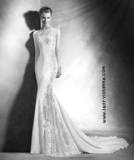 Мереживні весільні сукні фото Pronovias
