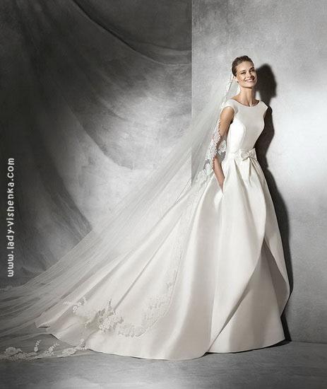 Атласні весільні сукні 2016 Pronovias