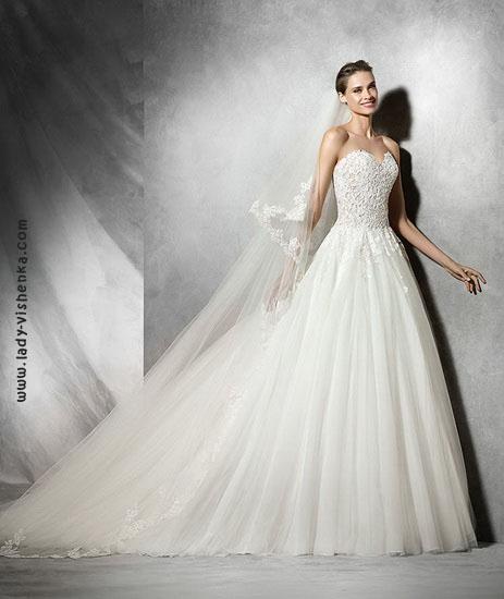 Довгі весільні сукні фото Pronovias