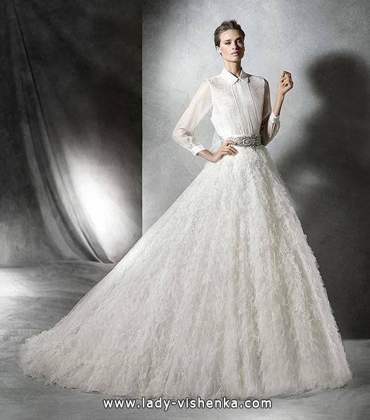 Пишні весільні сукні фото - Pronovias