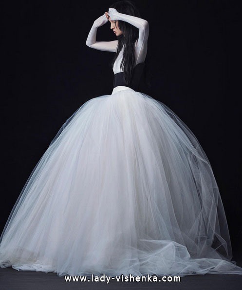 Пишні весільні сукні з рукавами фото - Vera Wang