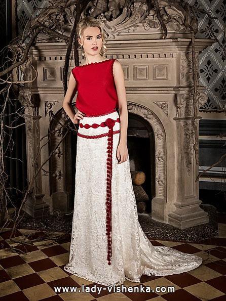 Червоне весільне плаття 2016 - Jordi Dalmau