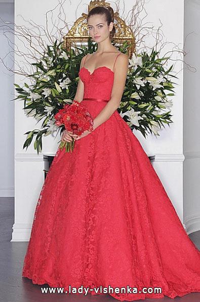 Червоне весільне плаття 2016 - Romona Keveza
