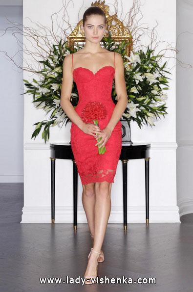 Коротке червоне весільне плаття 2016 - Romona Keveza