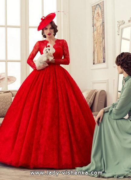 Пишне червоне весільне плаття 2016 - Tatiana Kaplun