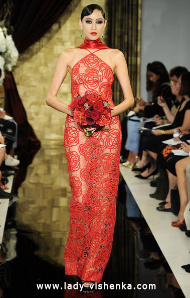 Весільні сукні червоного кольору - Theia