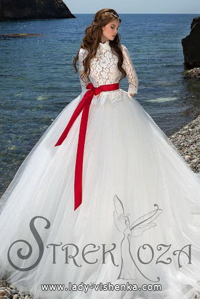 Весільні сукні з червоним поясом 2016 - Strekoza