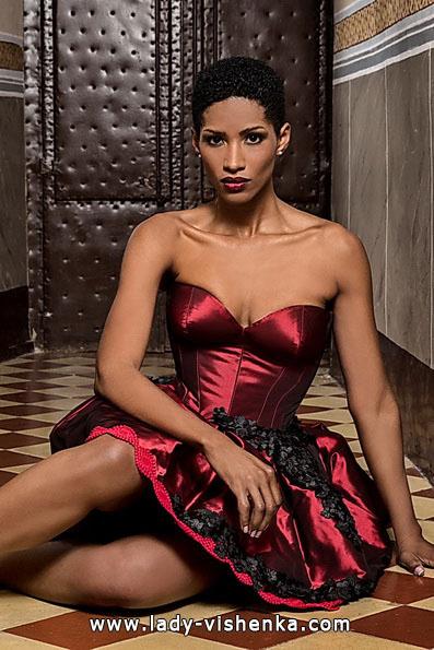 Червоне коротке весільне плаття - Jordi Dalmau