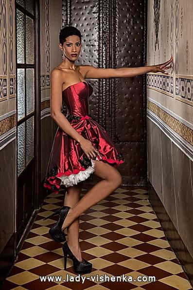 Весільну сукню червоного кольору 2016 - Jordi Dalmau