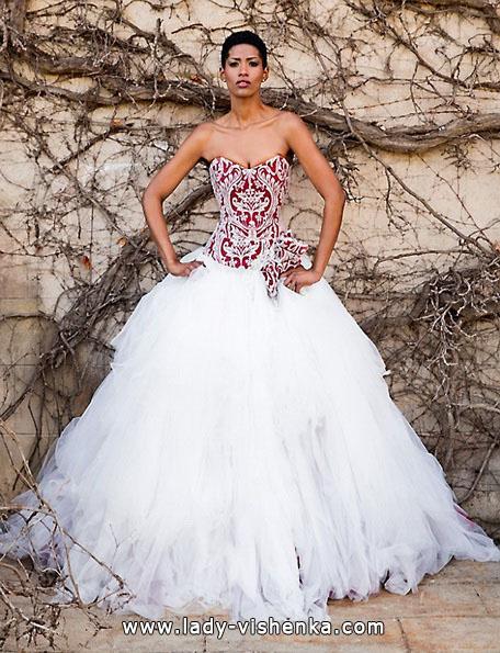 Весільну сукню з червоним верхом 2016 - Jordi Dalmau