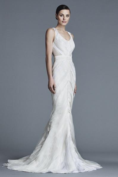 Атласна весільна сукня - риб'ячий хвіст - J Mendel