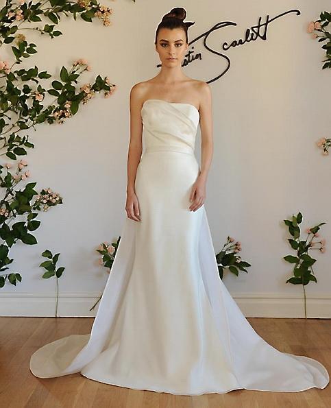 Атласна весільна сукня - риб'ячий хвіст - Austin Scarlett