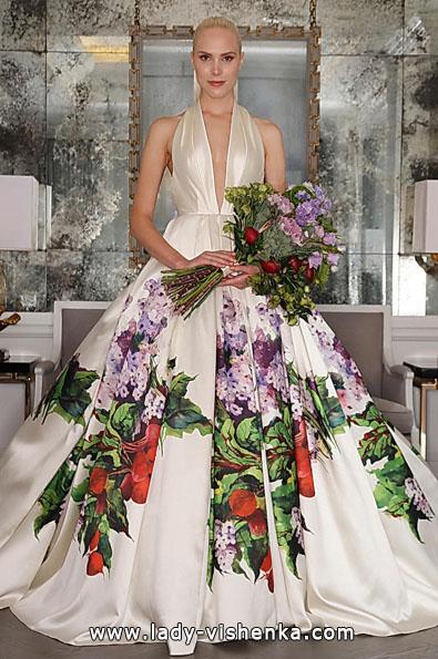 Весільну сукню з атласу 2016 фото - Romona Keveza
