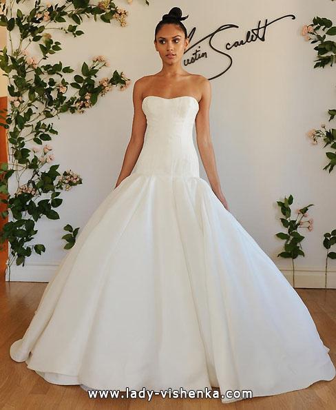 Весільну сукню з атласу 2016 - Austin Scarlett