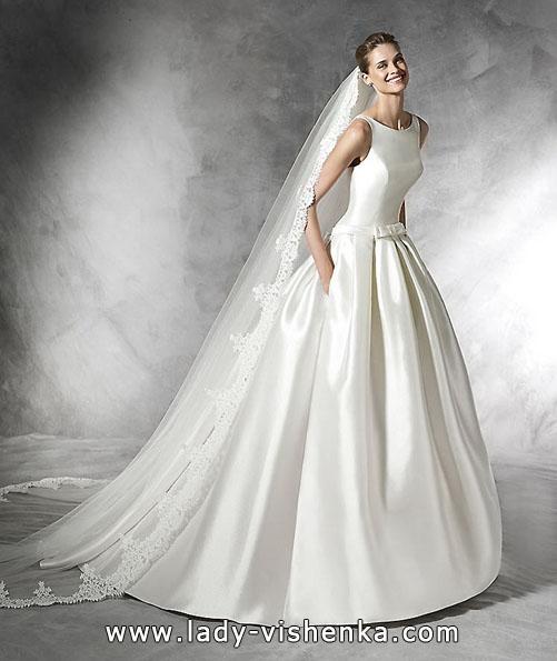 Атласні весільні сукні 2016 фото - Pronovias