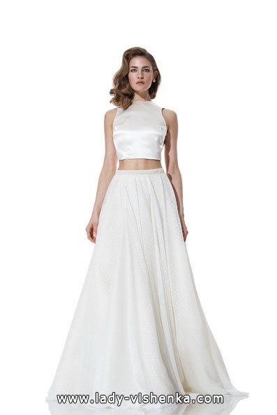Атласні весільні сукні 2016 - Olia Zavozina