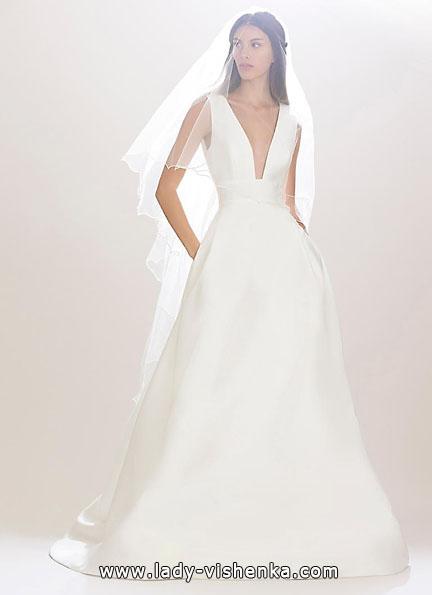 Весільну сукню з атласу 2016 - Carolina Herrera