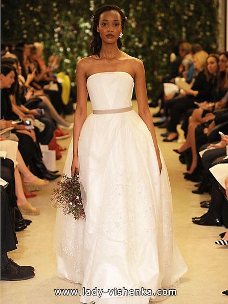 Атласні весільні сукні 2016 фото - Carolina Herrera