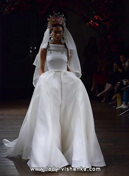 Весільну сукню з атласу 2016 - Naeem Khan
